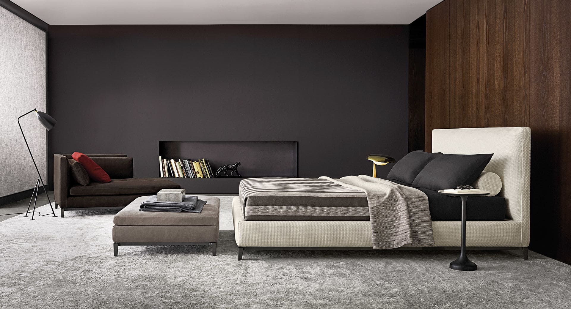 Sfera design Minotti bedroom furniture Andersen Bed