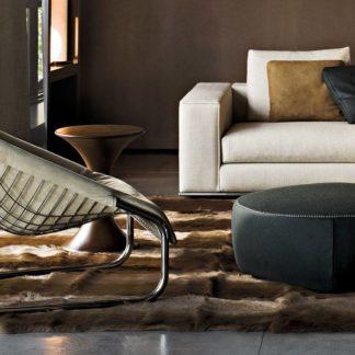 Sfera design Minotti soft furniture Cortina Armchair