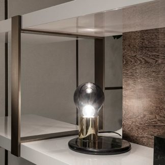 Sfera design Minotti storage-system furniture Dalton Bronze