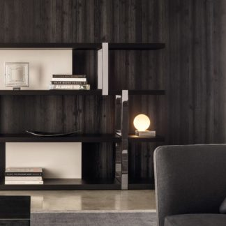 Sfera design Minotti storage-system furniture Dalton Chrome