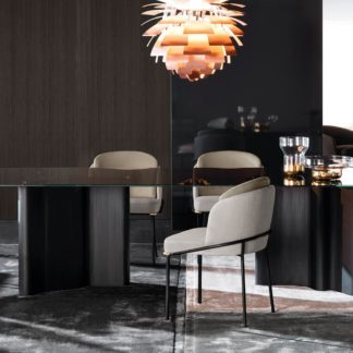 Sfera design Minotti canteen furniture Fil Noir Dining