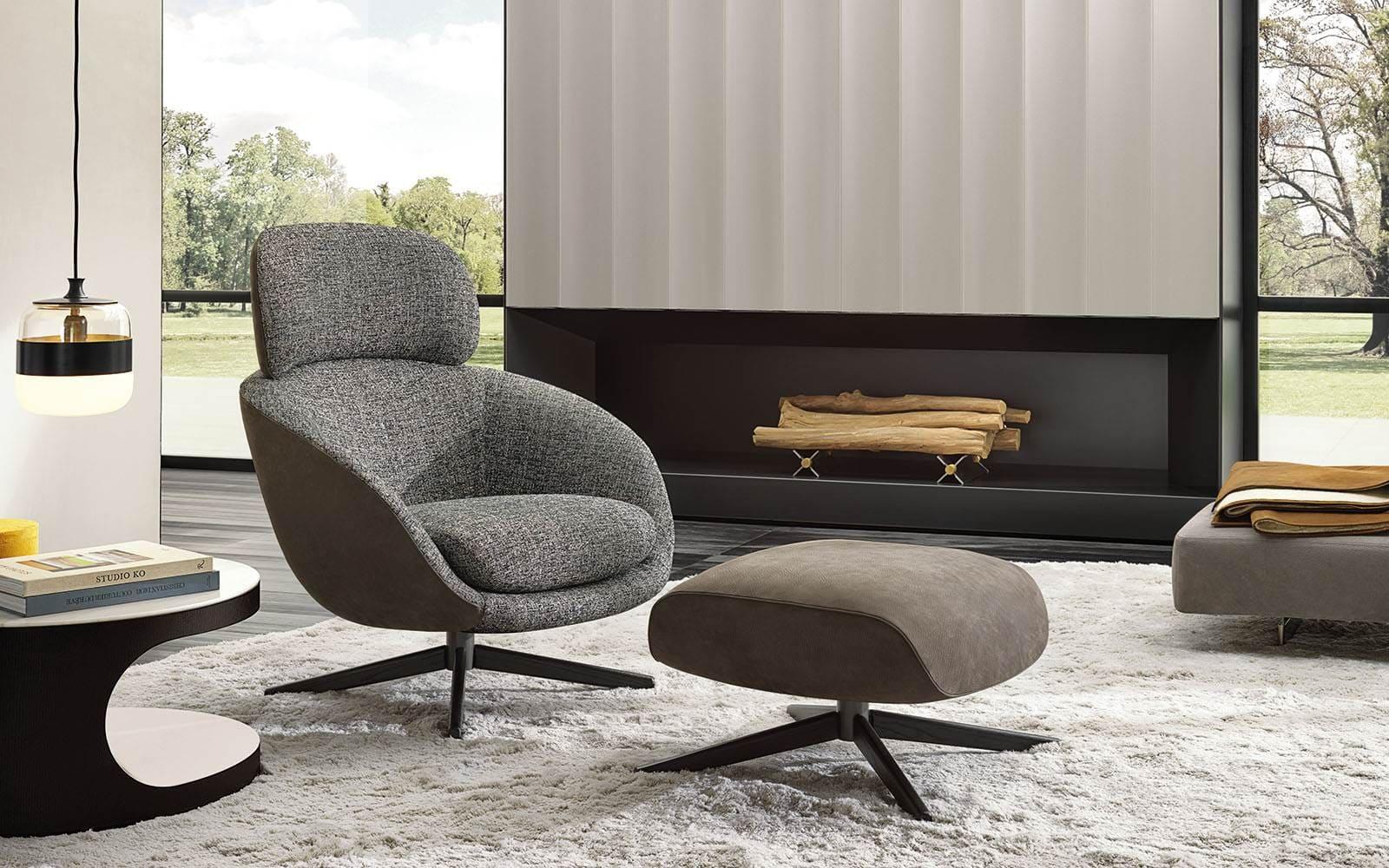 Sfera design Minotti soft furniture Russell