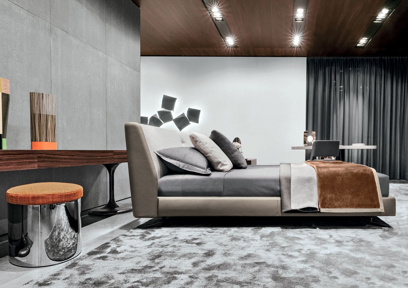 Sfera design Minotti bedroom furniture Spencer Bed
