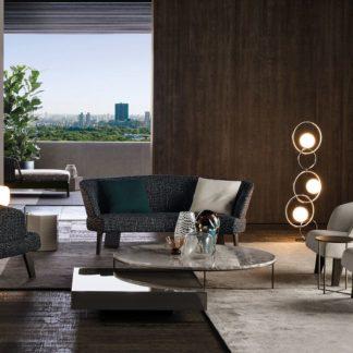 Sfera design Minotti soft furniture Creed Semi-round Lounge Sofa
